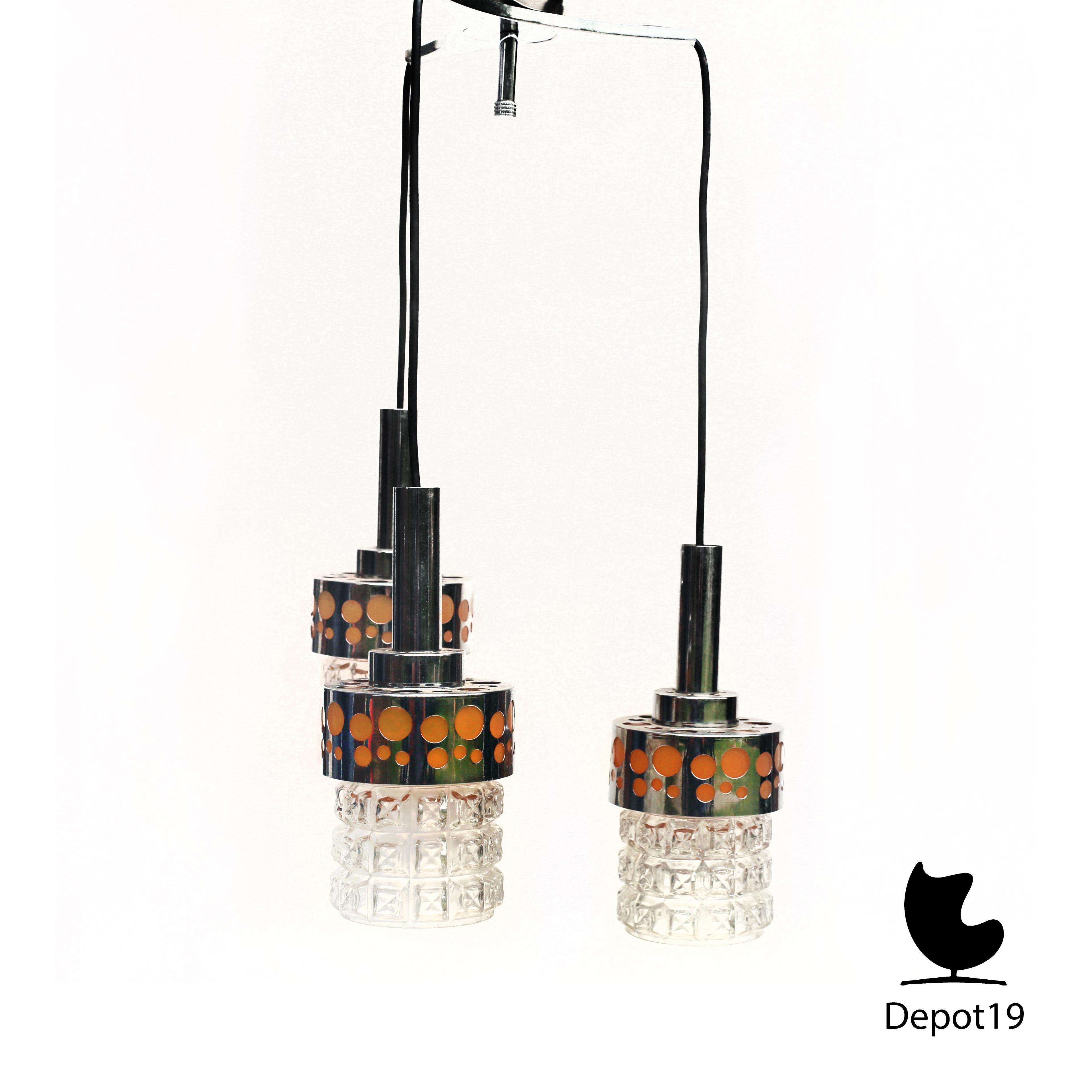 Raak Amsterdam waterval hanglamp 1960s | Depot 19