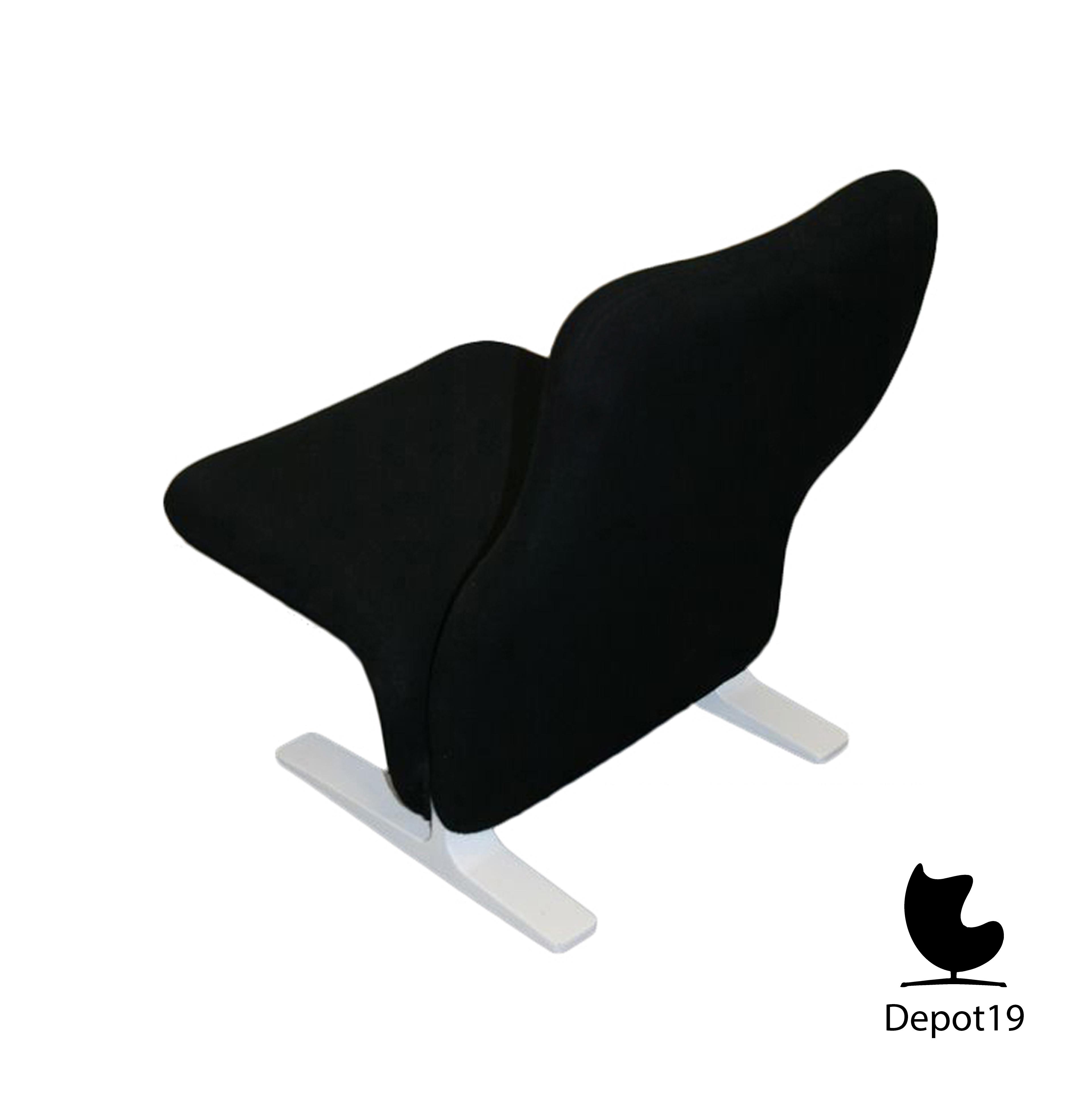 pierre paulin f780 artifort fauteuil zwart depot 19. Black Bedroom Furniture Sets. Home Design Ideas