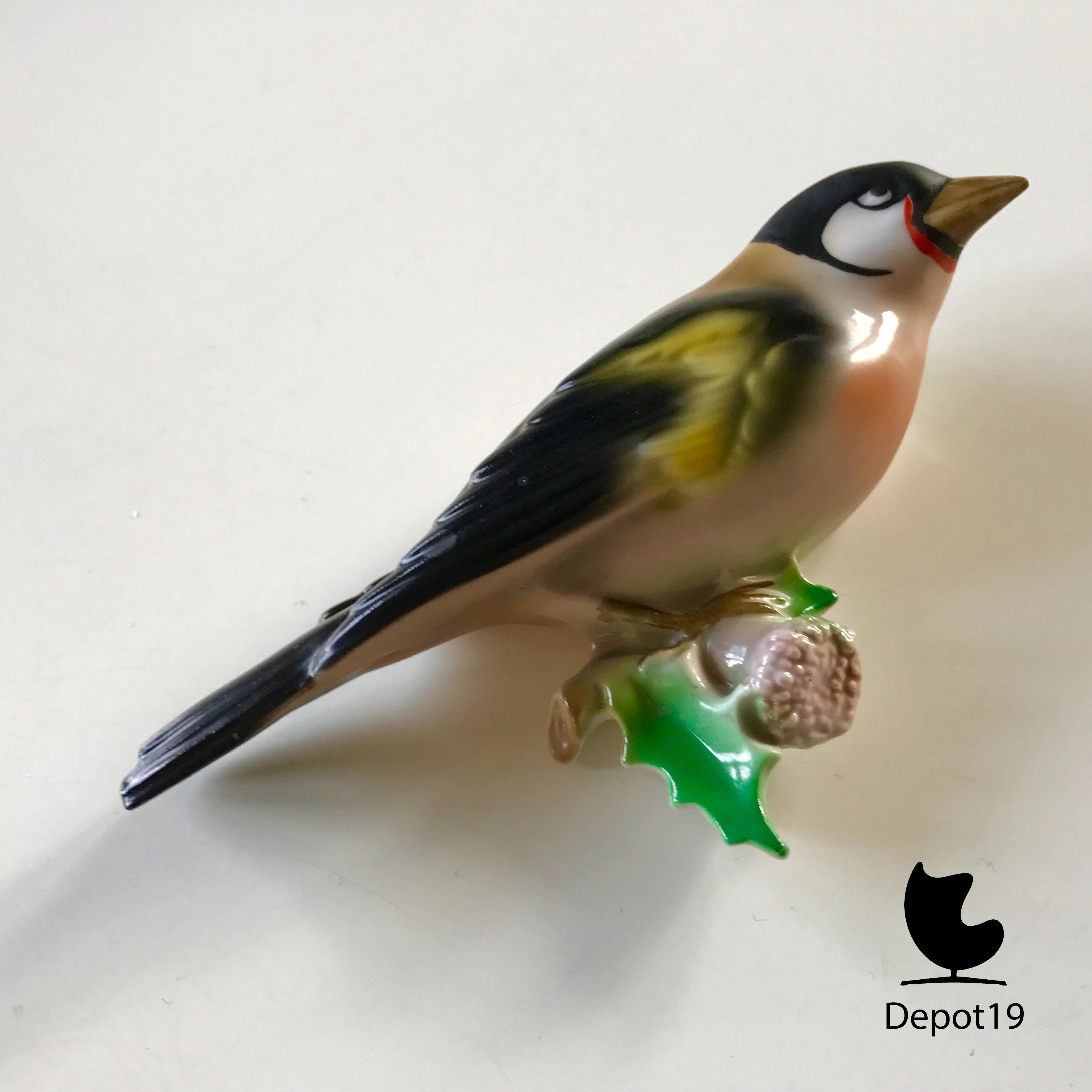 Germany Bird Goebel style European Goldfinch Figurine