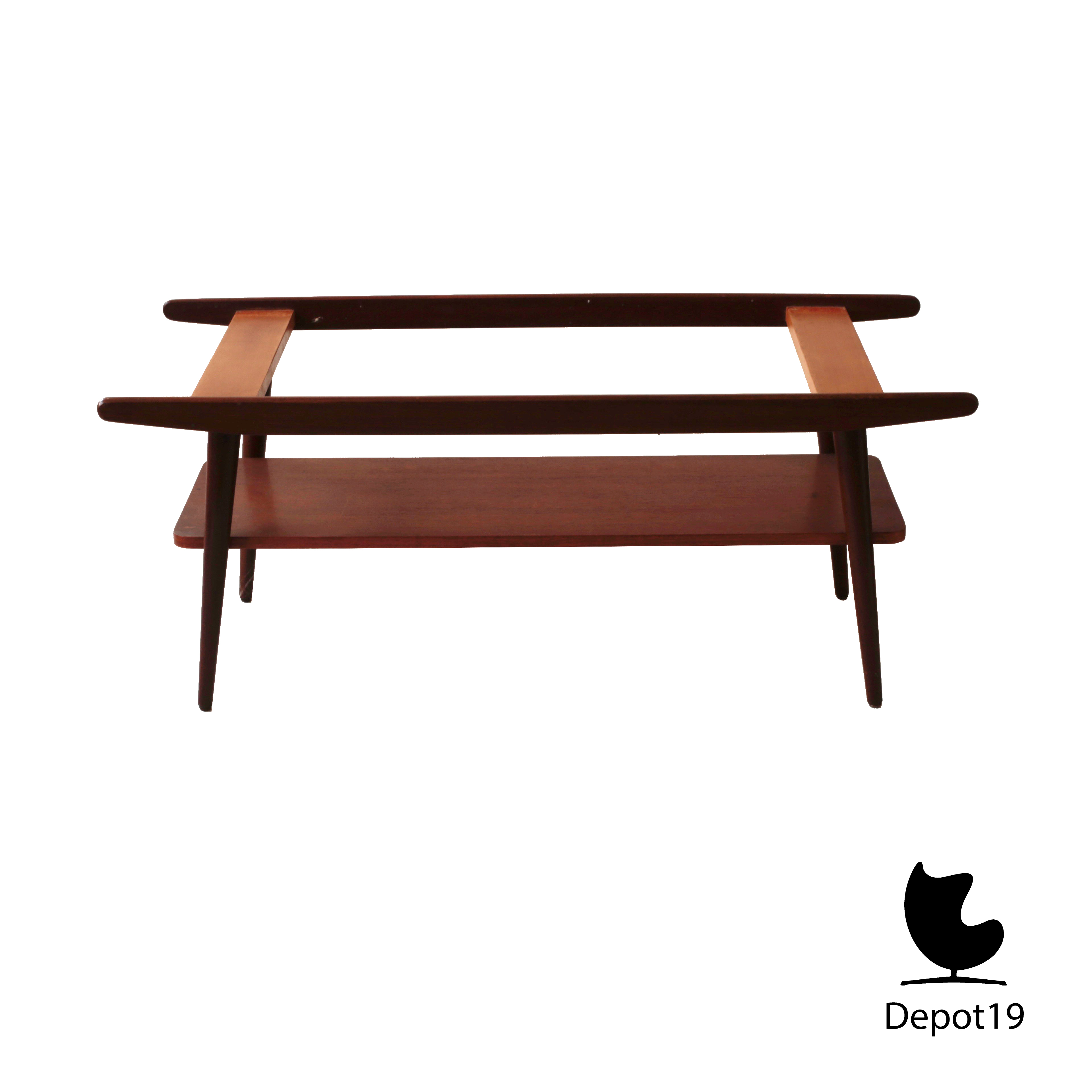 Louis van Teeffelen Style Coffee Teak Table 50s