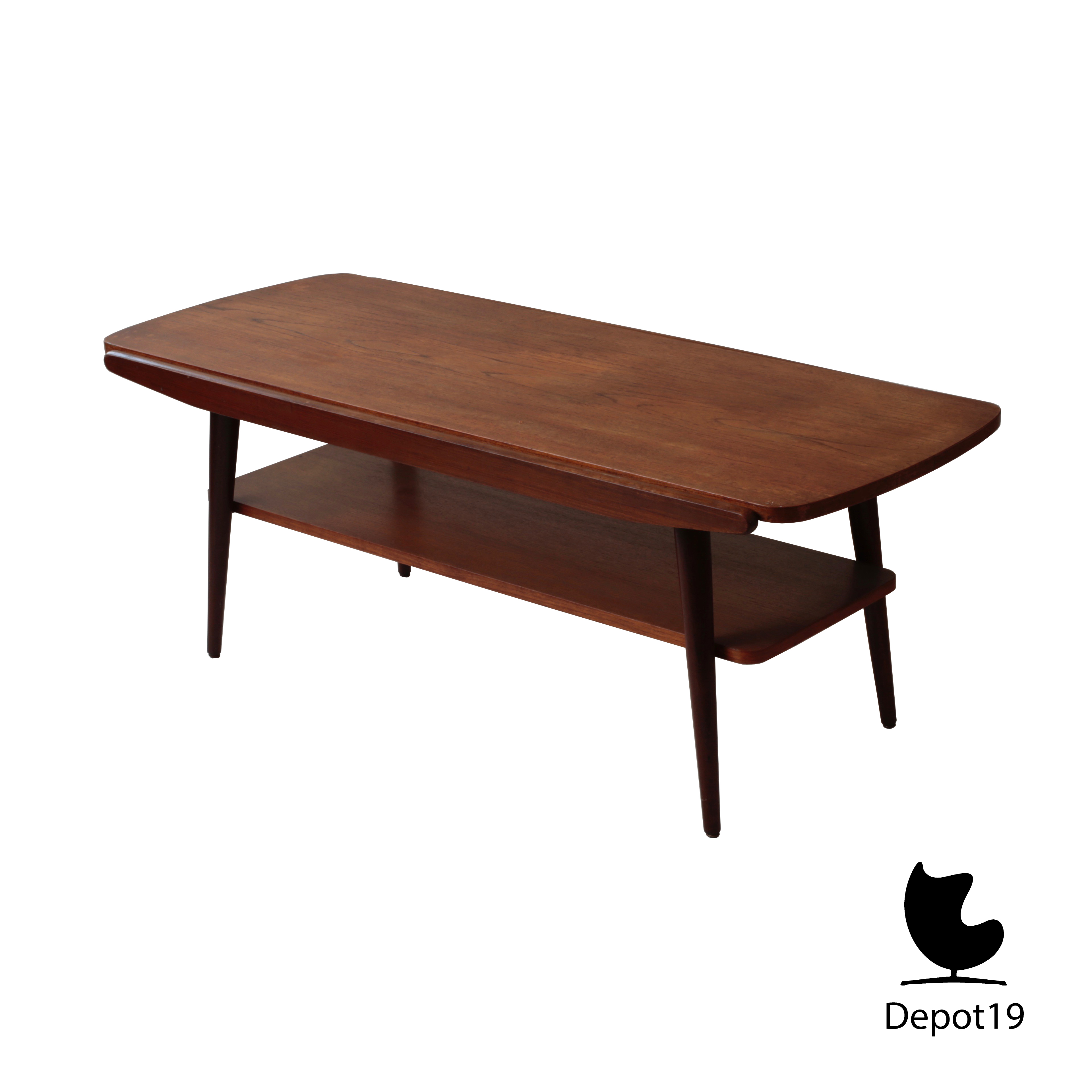 Louis van teeffelen stijl teak salontafel 50s depot 19 for 60s style coffee table