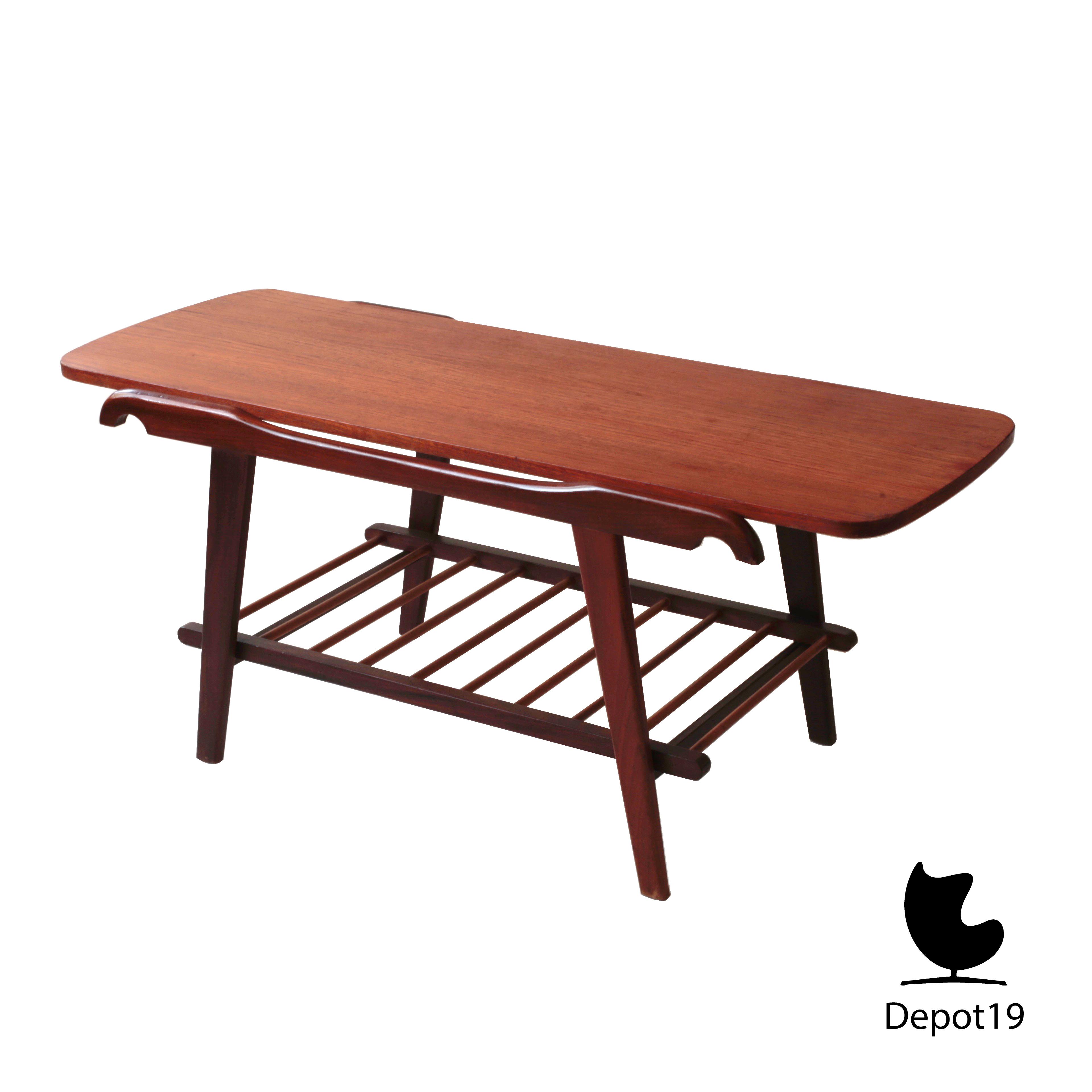 Louis van teeffelen style coffee table organic depot 19 for 60s style coffee table