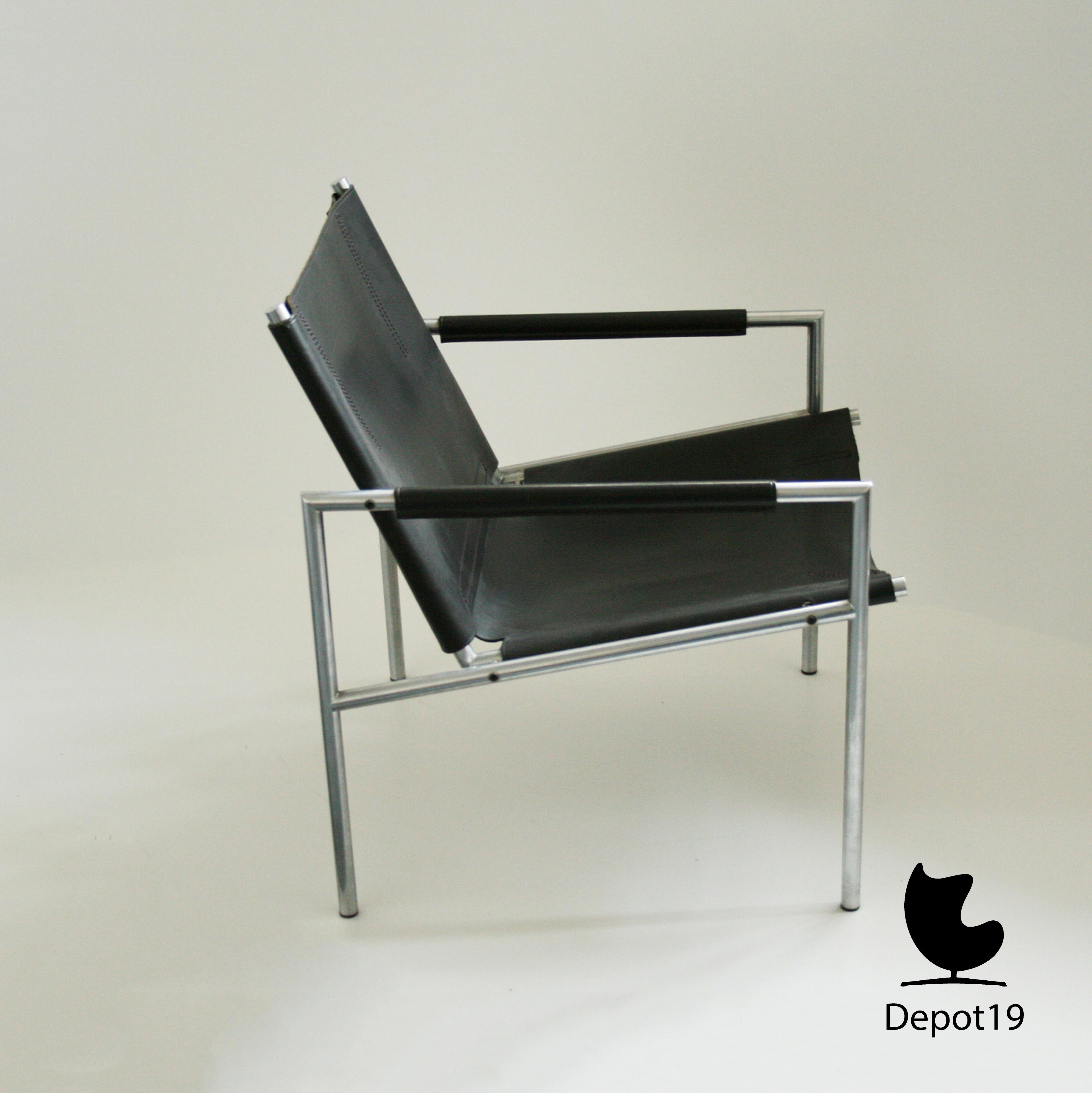 Fauteuil Leer Design.Martin Visser Sz02 Fauteuil Spectrum Dutch Zwart Leer Depot 19