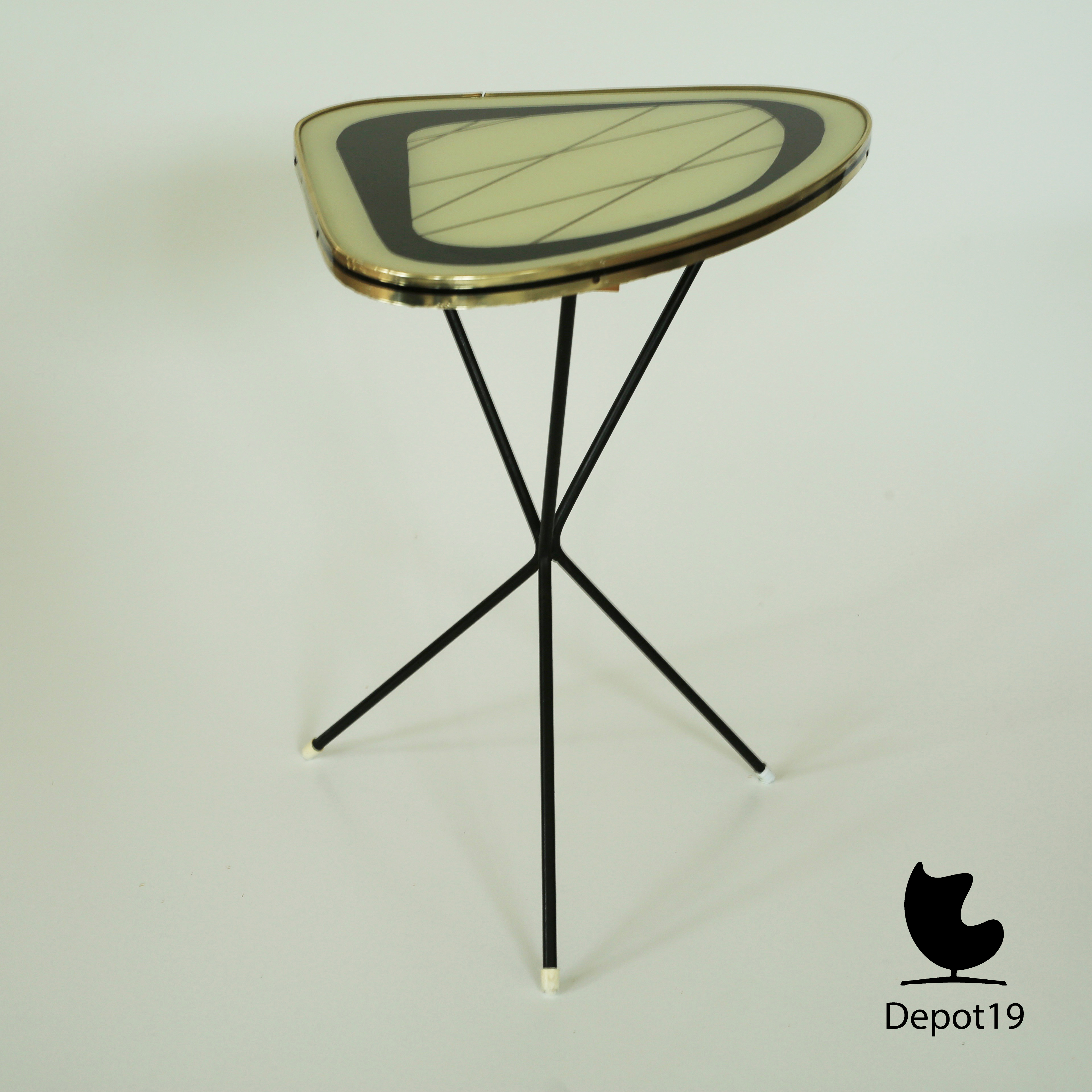 Mid Century 50s Atomic Coffee Table Side Table